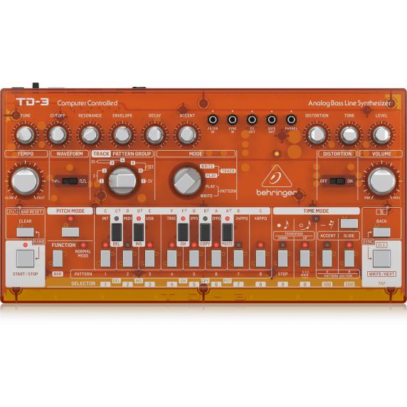 Behringer TD-3 Analog Bass Line Synthesizer - Transparent Orange