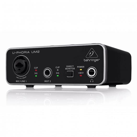 Behringer UM2 U-Phoria Audiophile 2x2 USB Audio Interface