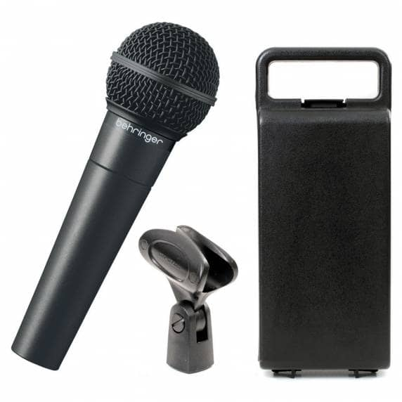 Behringer XM8500 Vocal Microphone With Carry case & Mic Clip