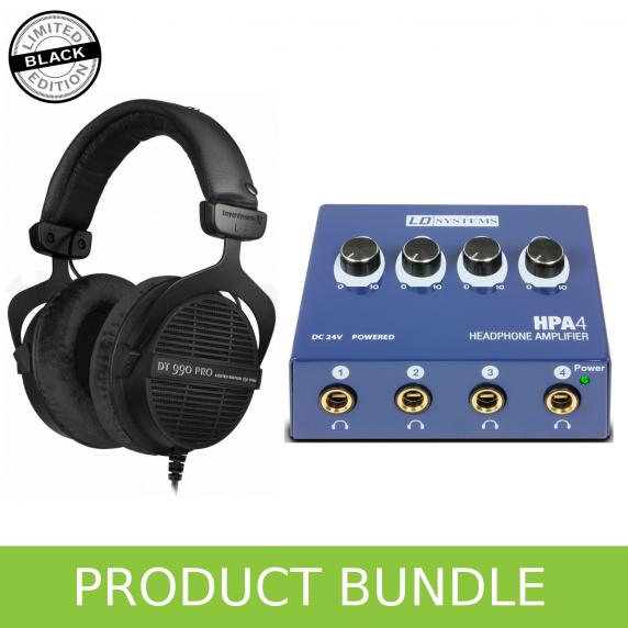 Beyerdynamic DT990 (Ltd Edition) & LD Systems Headphone Amp Bundle