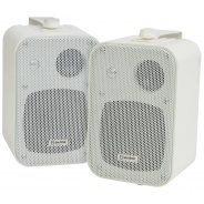 Bluetooth Background Music System - White Speakers