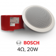 "Bosch 6"" Compact Ceiling Speaker, 20w, 4ohms & Firedome"