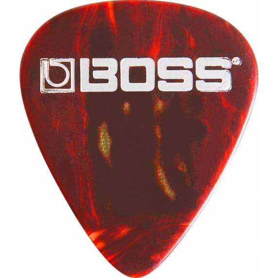 BOSS Medium Celluloid Guitar Pick / Plectrum - Shell Colour (Pack of 12)