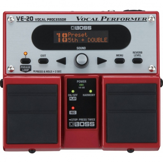 BOSS VE-20 Vocal Performer Vocal Effects Pedal