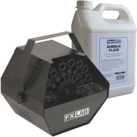 FX LAB Bubble Machine And 5 Litre Bubble Fluid Bundle