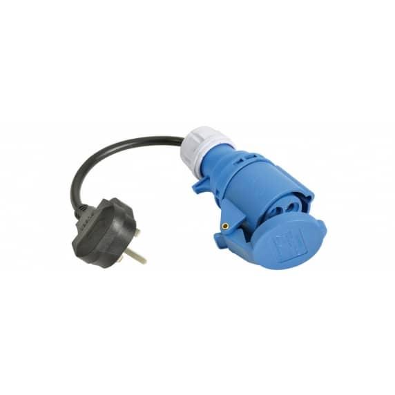Caravan / Motorhome Mains Converter Lead - Ceeform Socket to 13A Plug 16 Amp