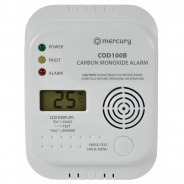 Carbon Monoxide Alarm / Detector - COD100B - Digital Display