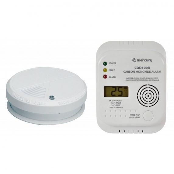 Carbon Monoxide Detector & Smoke Alarm Kit - COD100B / SD101P