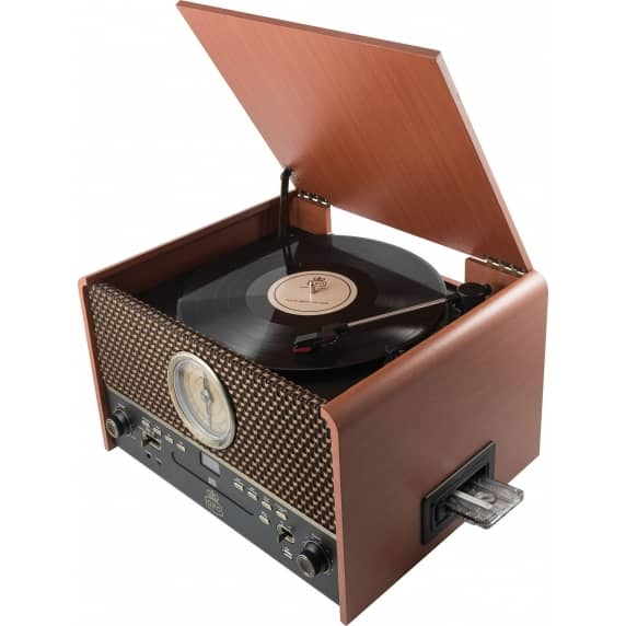 Chesterton Retro Style Vinyl Turntable with Casette Player