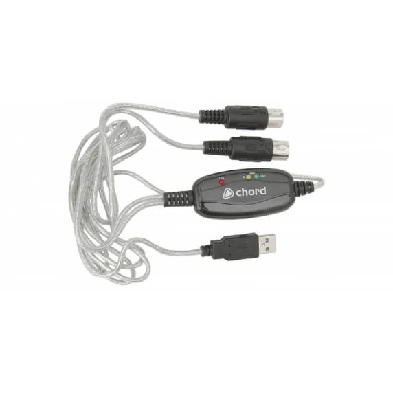 Chord 1.8M USBMC USB to midi Interface Cable
