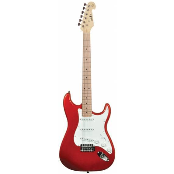 Chord Stratocaster Style Electric Guitar Metallic Red