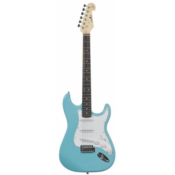 Chord Stratocaster Style Electric Guitar Surf Blue