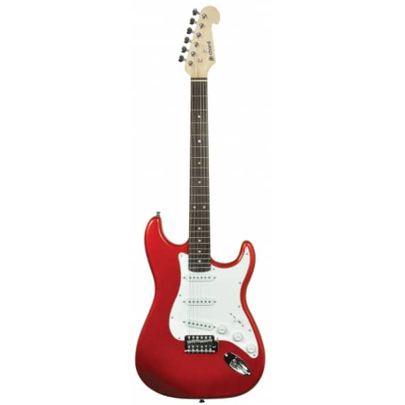 Chord Stratocaster Style Guitar Metallic Red