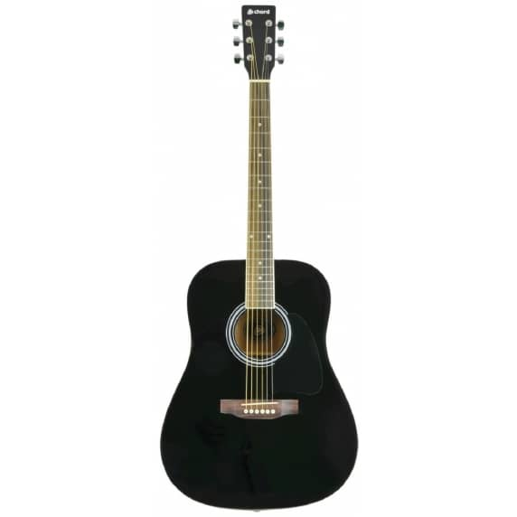 Chord Western Acoustic Guitar (Gloss Black)