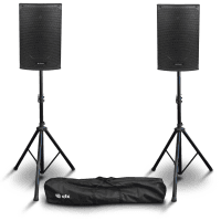 "Citronic CAB-10L 10"" Active PA Speaker Bundle with Stands"