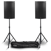 "Citronic CAB-12L 12"" Active PA Speaker Bundle with Stands"