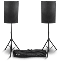 "Citronic CAB-15L 15"" Active PA Speakers Bundle with Stands"