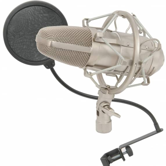 Citronic CCM1 Studio Condenser Mic + Pop Filter Bundle
