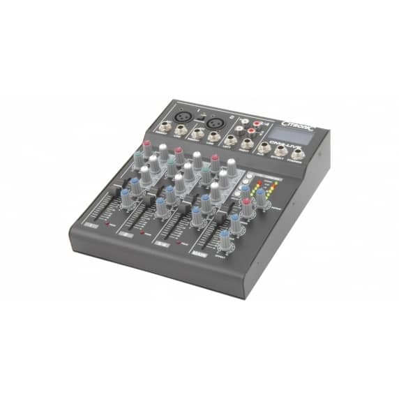 Citronic CM4-LIVE 4-Channel Mixer with Delay & USB/SD Player
