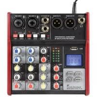 Citronic CSM-4 4-Channel Compact Mixer with Bluetooth & USB