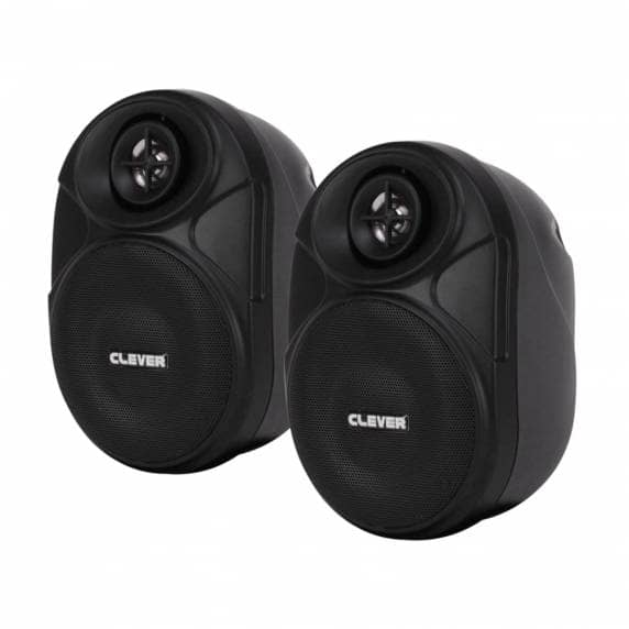 Clever Acoustics BGS 20T Black 100V Wall Speakers (Pair)