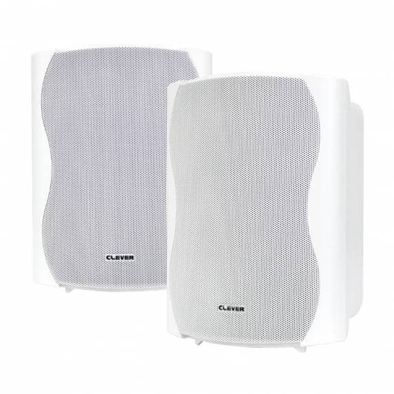Clever Acoustics BGS 50T White 100V Wall Speakers (Pair)