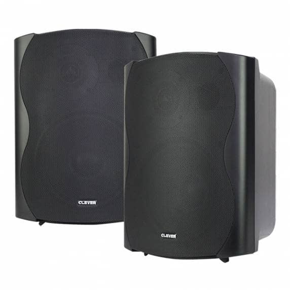 Clever Acoustics BGS 85T Black 100V Wall Speakers (Pair)