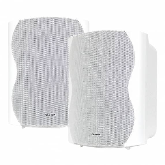 Clever Acoustics BGS 85T White 100V Wall Speakers (Pair)