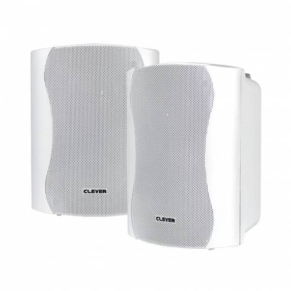 Clever Acoustics WPS 35T White 100V Weatherproof Wall Speakers (PAIR)