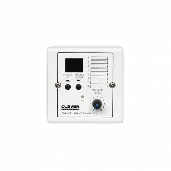 Clever Acoustics ZM 8 CW Wall Plate - Source Select