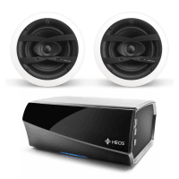 Denon HEOS Amp HS2 + Q Install QI65CW Waterproof Ceiling Speakers (Pair)