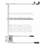 DJ Laptop Stand for PC or Mac - Pro Series Adam Hall SLT006S - Silver