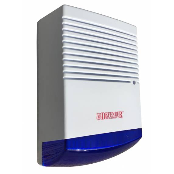 Dummy Alarm Box with Blue Flashing LED - Defender Security RL-900B