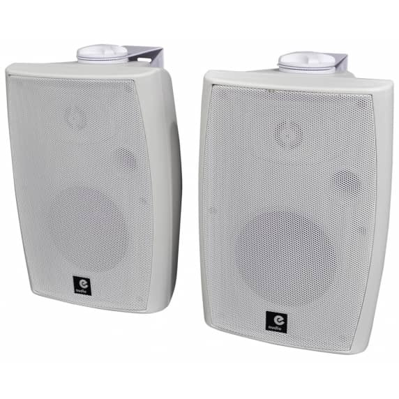 E-Audio 60W Active Bluetooth Wall Speakers (White) B-STOCK