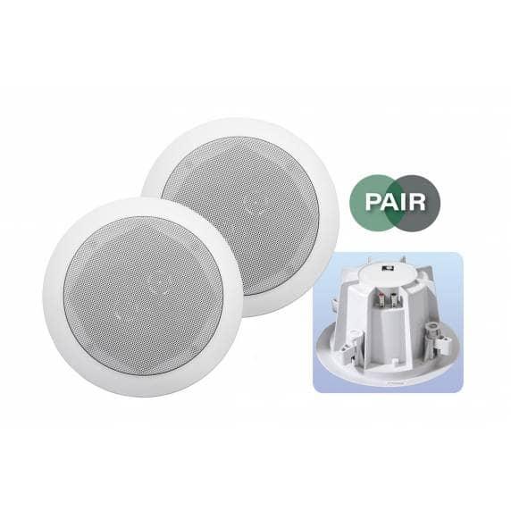 """E-Audio 8"""" 2-Way Ceiling Speakers 180W (pair)"""