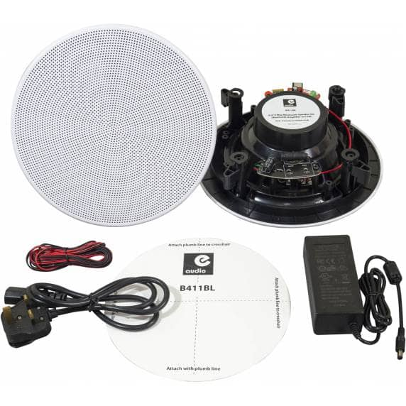 "E-Audio Bluetooth Bathroom Speaker System - 2x 6.5"" Ceiling Speakers"