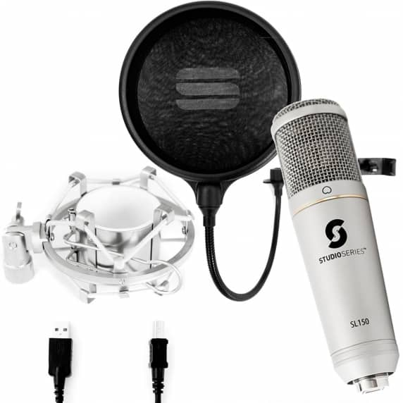 Editors Keys SL150 USB Microphone + Pop Filter Bundle