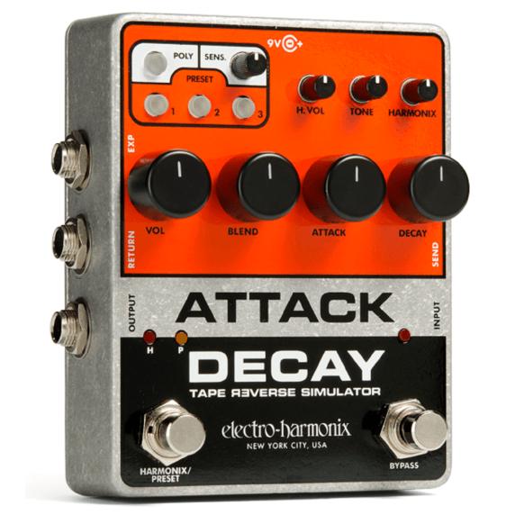electro harmonix attack decay tape reverse simulator guitar pedal electro harmonix from inta. Black Bedroom Furniture Sets. Home Design Ideas