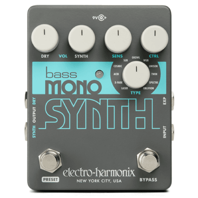 electro harmonix bass mono synth guitar pedal electro harmonix from inta audio uk. Black Bedroom Furniture Sets. Home Design Ideas