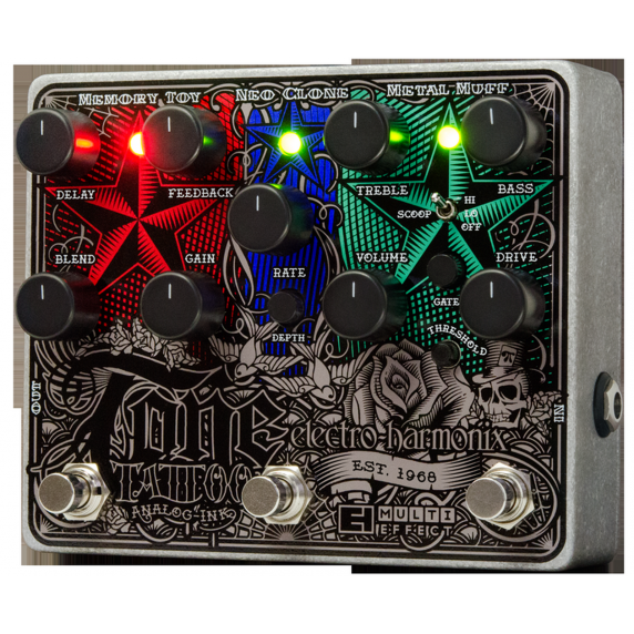 Electro-Harmonix Tone Tattoo Drive Analog Multi-Effects Pedal