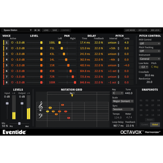 Eventide Octavox Harmonizer Plug-in (Serial Download)