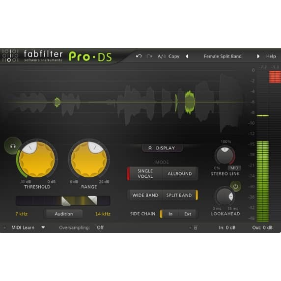 FabFilter Pro-DS - De-esser (Serial Download)