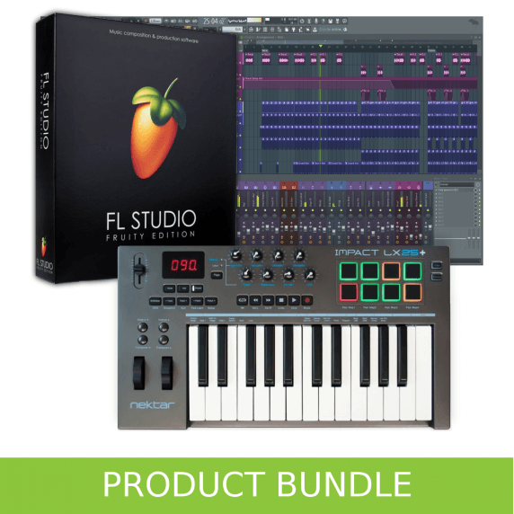 FL Studio Fruity Edition and Nektar LX25+ Home Recording Bundle