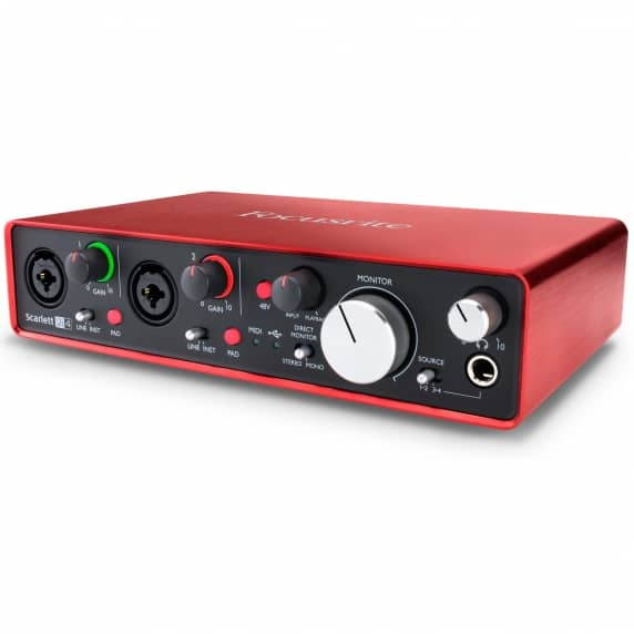 Focusrite Scarlett 2i4 [2nd Gen] 2 In 4 Out USB 2.0 Audio Interface