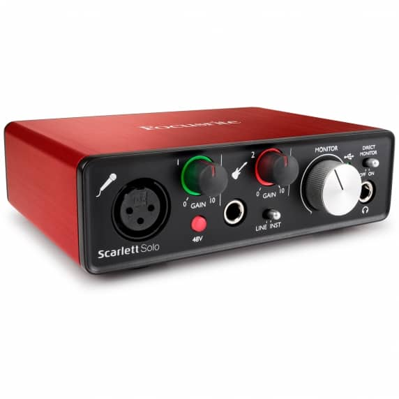 Focusrite Scarlett Solo [2nd Gen] 2 In 2 Out USB 2.0 Audio Interface