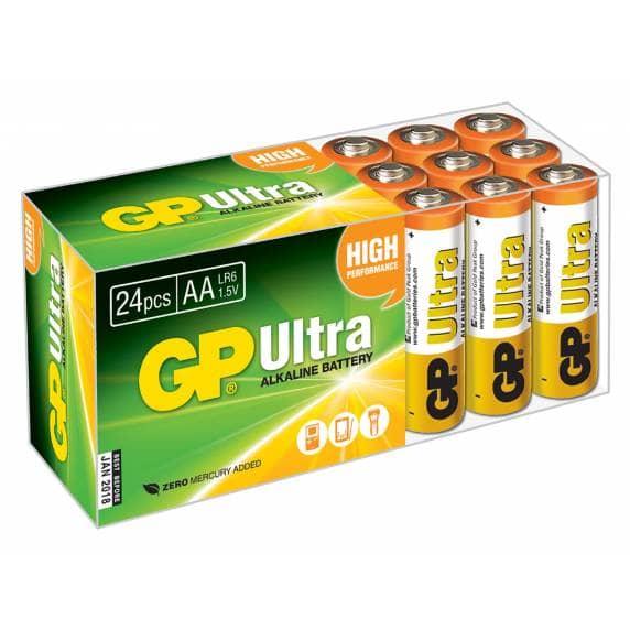 GP Ultra Alkaline AA Batteries - Pack of 24