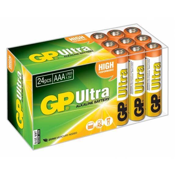 GP Ultra Alkaline AAA Batteries - Pack of 24