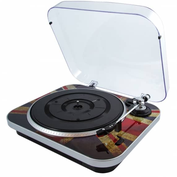 GPO Jam Portable Retro Record Player USB Turntable