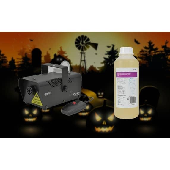 Halloween Party/Disco Fog Machine and Orange Fluid - 1L Bottle Spooky Mist