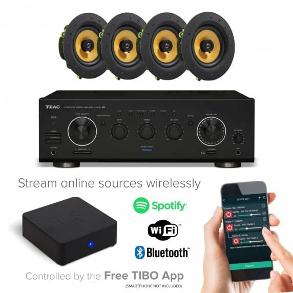 Home Entertainment Hi-Fi System with Bluetooth, Wi-Fi & Spotify Ready